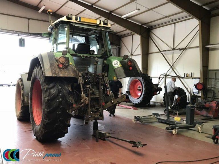 Montage pneu atelier agricole