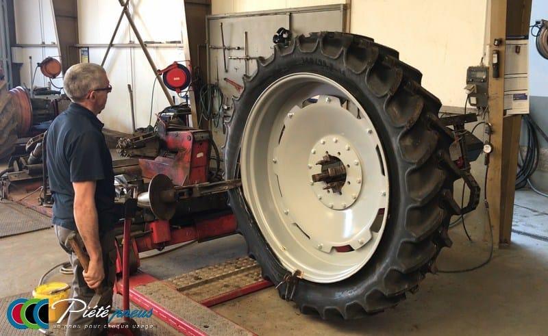agricole montage roue etroite