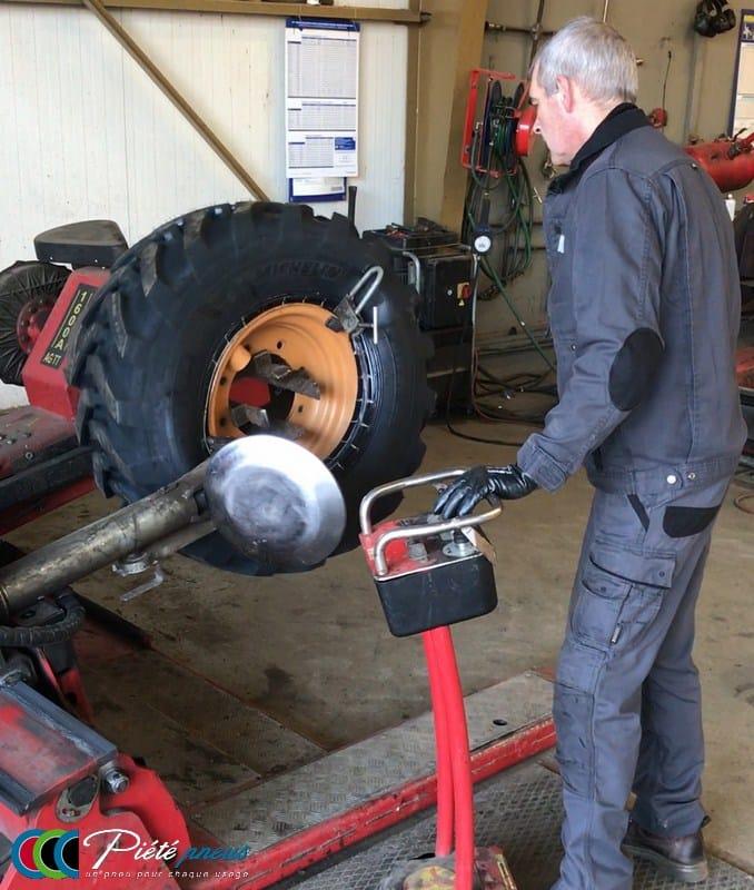 montage pneu genie civil