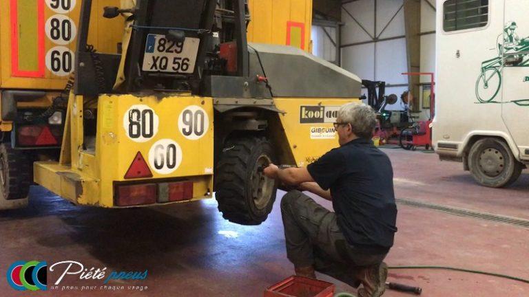 montage pneu industrie