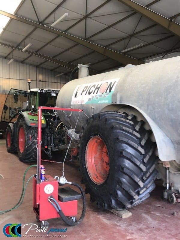 montage pneu tonne lisier